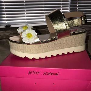 Betsey Johnson platform sandals
